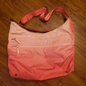 Pink lululemon gym bag